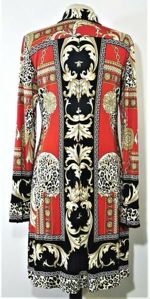 Eva Varro Bold Mixed Print Snap Button Dress Women's Size XL *NEW*