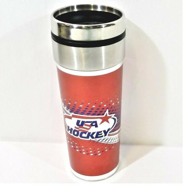 USA Hockey Stainless Steel 22 Oz. Beverage Mug *NEW, No Tags*