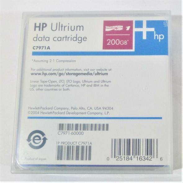 Lot of 5 HP Ultrium 200GB Data Cartridges C7971A