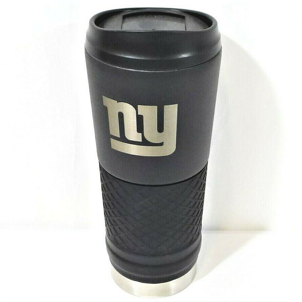 New York Giants 24 Oz. Black Stainless Steel Hot/Cold Insulated Mug *NEW*