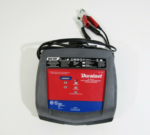 Duralast 8 Amp Battery Charger/Maintainer for 6/12V Batteries DL-8D **OPEN BOX**