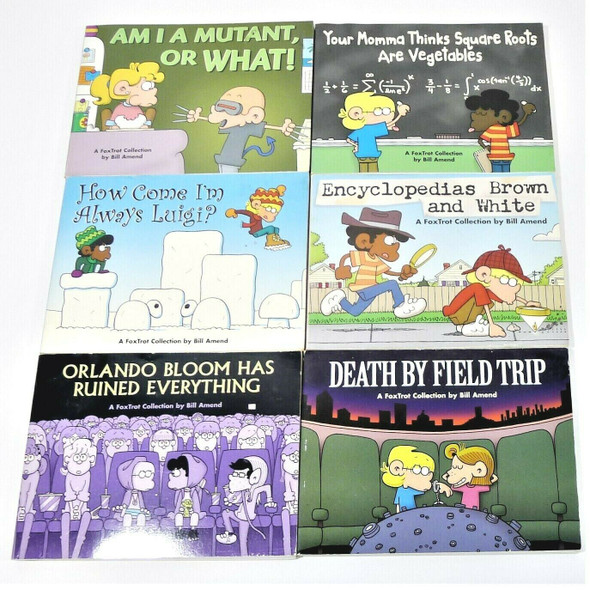 6pc Lot of Paperback Foxtrot Collection Comics by Bill Amend