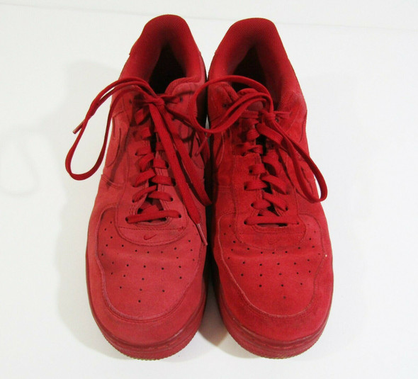 Nike Air Force 07 Men's Red Suede Sneakers Size 13 **USED, SEE DESCRIPTION**