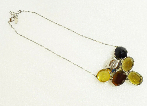 Armani Exchange Silver-Tone and Stone Necklace