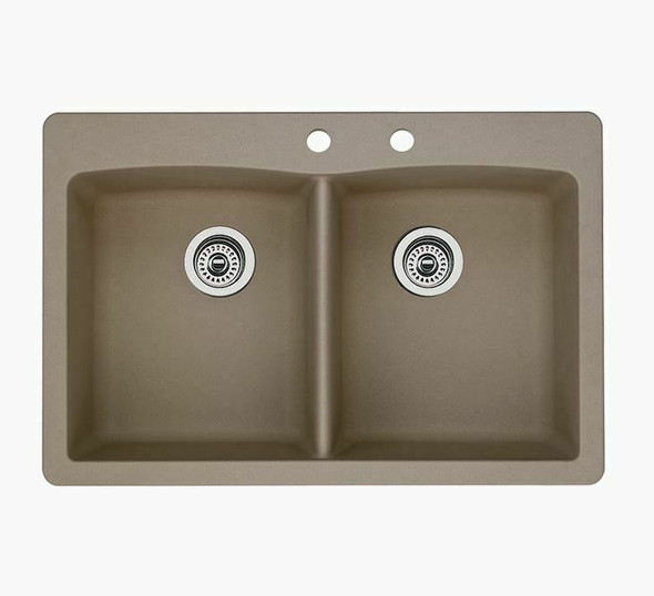 Blanco Tuscany 2.0 Double Bowl 1-Hole Composite Sink in Truffle  *Local Pickup