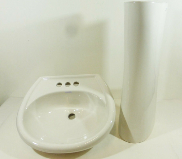 Gerber Maxwell Porcelain Sink with Pedestal  LOCAL PICKUP ONLY, AUSTIN TX
