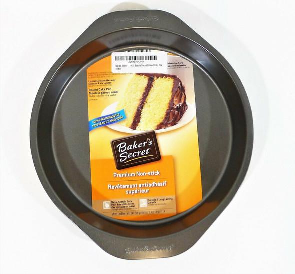 "Set of 2 Baker's Secret 9"" x 1-1/2"" Round Cake Pans Non Stick - NEW"