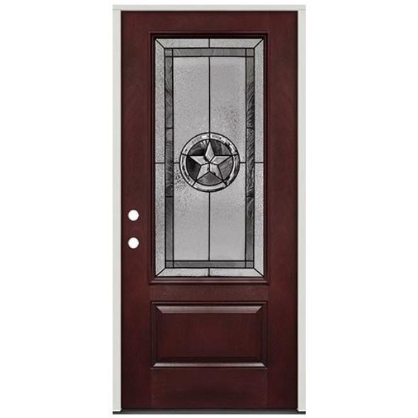 Texas Star 3/4 Lite Pre-Finished Mahogany Fiberglass Pre-Hung Door