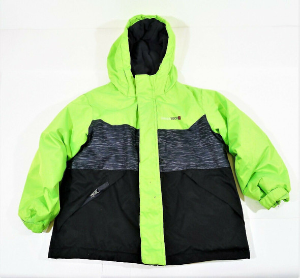 Swiss Tech Boy's Green/Black Jacket Coat Size XS (4-5) **MISSING LINER