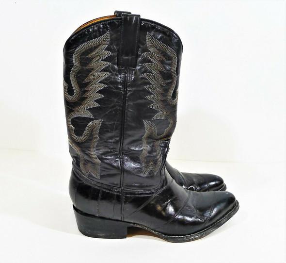 Je-ver Men's Black Anguila Lizard Boots Mexico Size 28 US Size 9