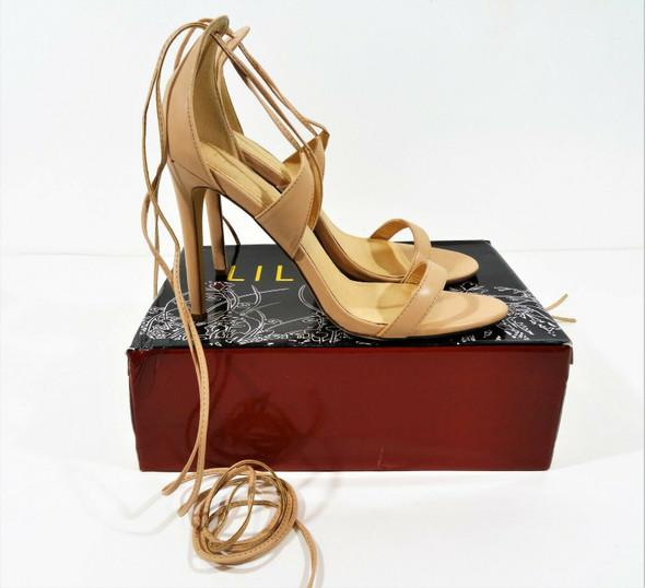 Liliana Women's Starlet Strappy Lace Up Nude Heels Size 10 IOB - Style Nikita-25
