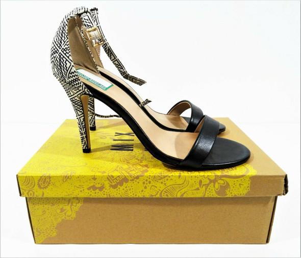 Mix No. 6 Lina Women's Ankle Strap Print Heels Size 10 - IOB