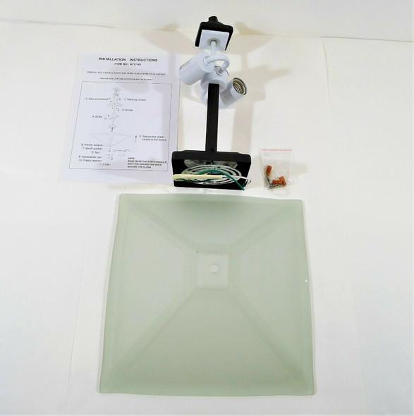 Act141 Highgrove Glass Lamp Fixture Ceiling Mount  - OPEN BOX