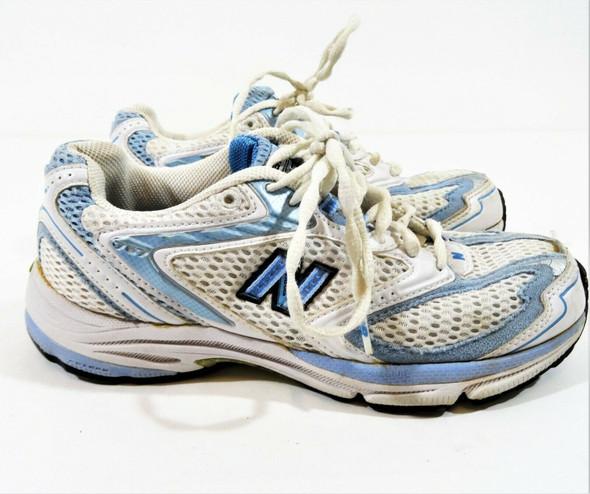 New Balance Women's Athletic Running Shoes Blue & White Size 6.5