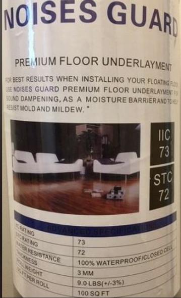 3mm Black Premium Noise Guard Padding (for floating floors)