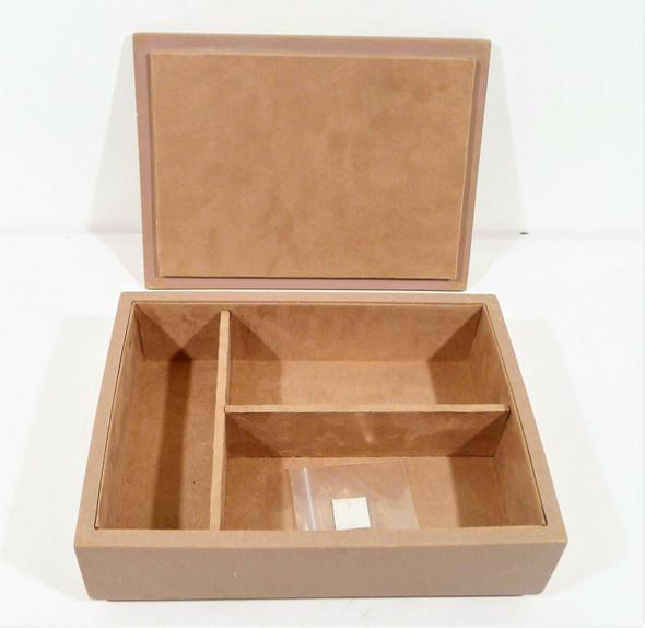 """CB2 Dusty Rose Polyresin Brooch Box 10"""" W x 7.5"""" L x 3"""" H **WEAR ON CORNERS"""