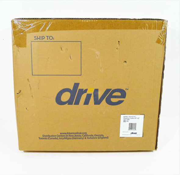 "Drive Molded Foam General Use Wheelchair Cushion 14887 - 18"" x 16"" - NEW"