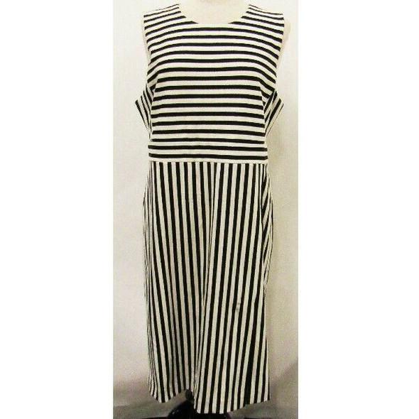 Ann Taylor Black & White Striped Women's Dress NWT Size 16