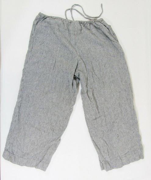 Chico's Design Black & White Wide Leg Linen Women's Pants Size 2 *Has Hole*