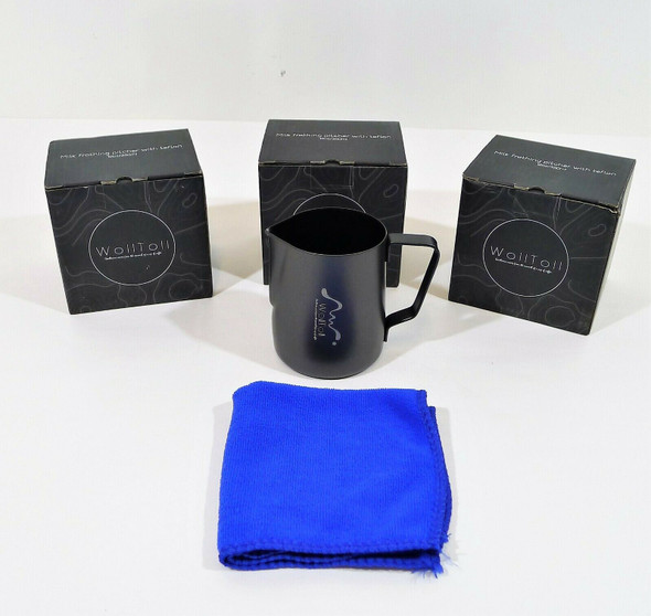Set of 3 WollToll Milk Stainless Steel Creamer Frothing Pitchers - OPEN BOX