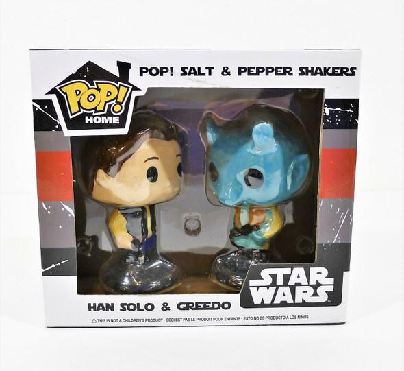 Funko Pop Han Solo and Greedo Star Wars Salt And Pepper Shaker Set - NEW