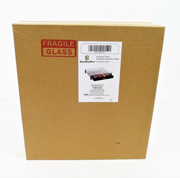 DecoBrothers Glass Nespresso Vertuoline Storage Drawer KT-010-1 - NEW IN BOX