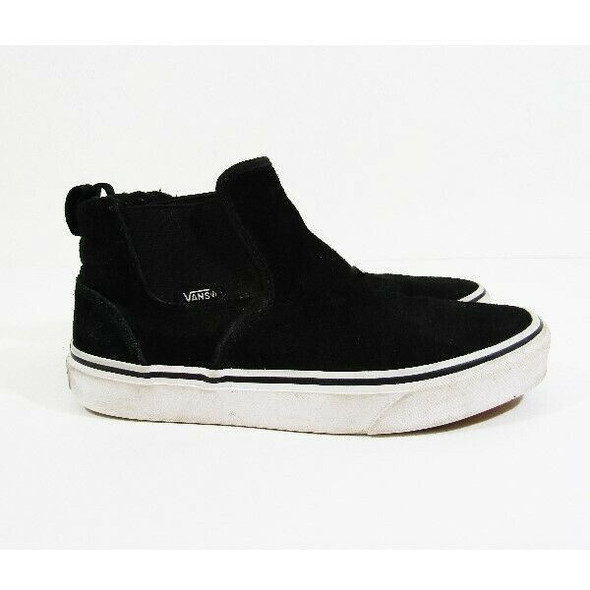 Vans Black & White Ankle High Stretch Women's Sneakers Size 7