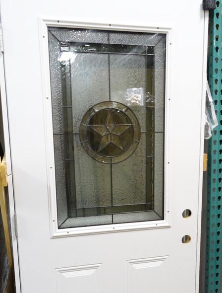 3/0 Texas Star Window 1/2 Lite Door in White Finish