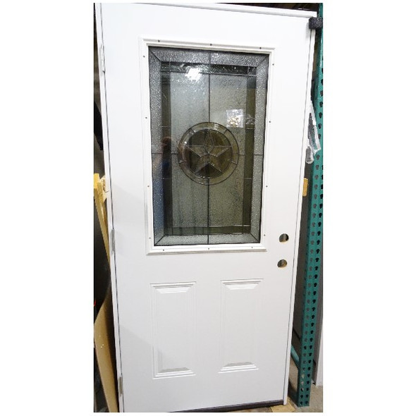 3/0 Texas Star Window 1/2 Lite Door in White Finish LOCAL PICKUP ONLY, AUSTIN TX