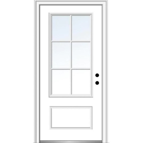 3/4 Lite 6-Way Divided Window Door