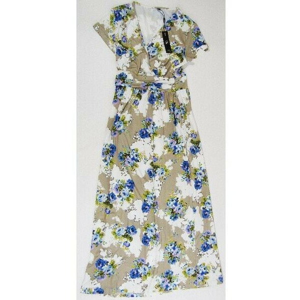 Ouges Multicolor Floral Women's Maxi Dress Size M NEW WITH TAGS