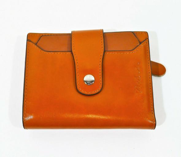 Bostanten Women's Brown Leather Rfid Blocking Small Bifold Card Case Wallet
