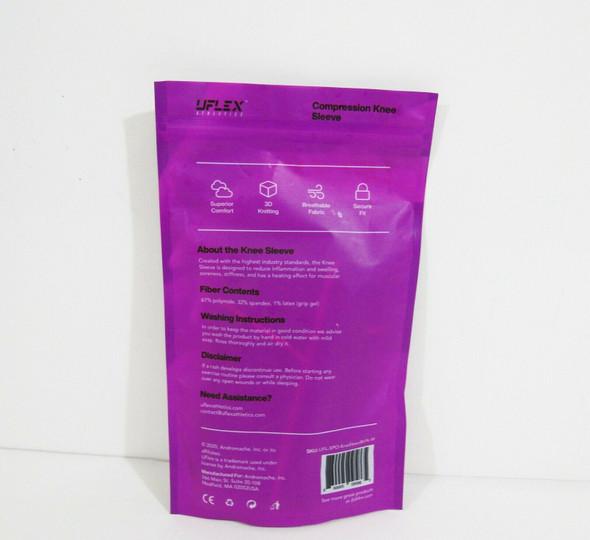 Uflex Athletics Black & Pink Compression Leg Sleeve Size M ***NEW IN PACKAGE***