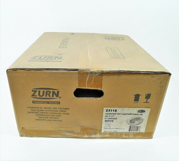 """Zurn White Countertop Lavatory 8"""" Centers Z5118 NEW LOCAL PICKUP ONLY AUSTIN TX"""