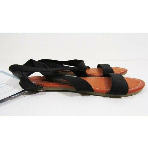Rekayla Women's Black Elastic Ankle Sandals Size 7.5 **NEW IN PACKAGE**