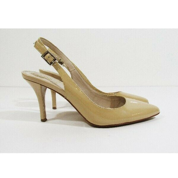 Vince Camuto Women's Tan Leather Adjustable Heels Size 6M/36 *Has Scuff Marks*