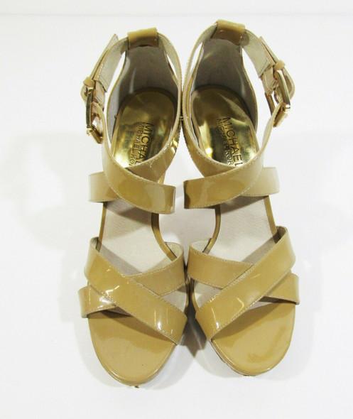 Michael Kors Women's Beige Open Toe Strappy High Heels Size 6M *Has Defects*