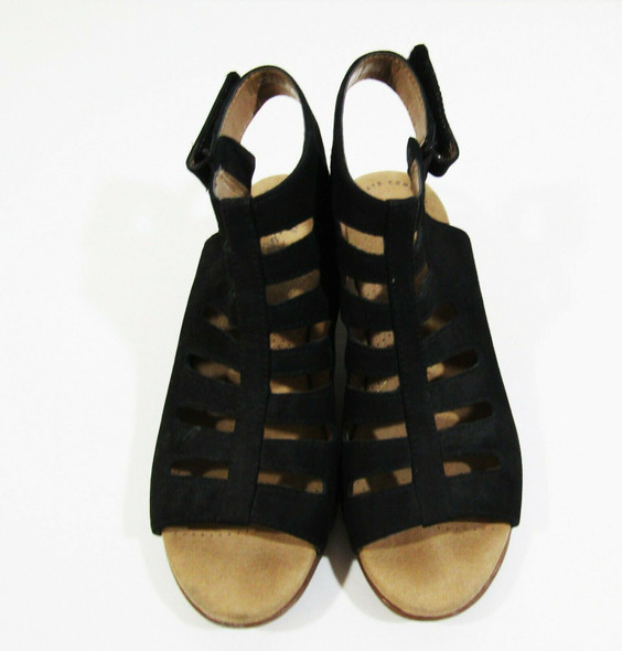 Collection by Clarks Women's Black & Tan Open Toe Heeled Sandals Size 6M