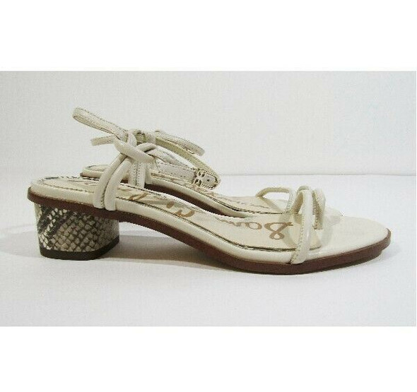 Sam Edelman Women's Leather Reptile Embossed Heeled Sandals Size 6