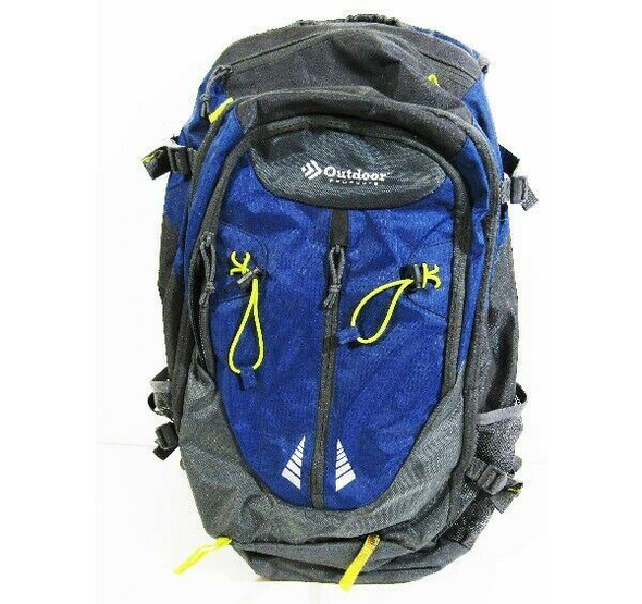 Outdoor Products Large Blue & Gray Hiking/Camping Backpack 24x14x7 *See Desc.