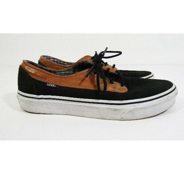 Vans Off the Wall Men's Brown & Black Lace Up Sneakers Size 7.5 Men / 9 Women