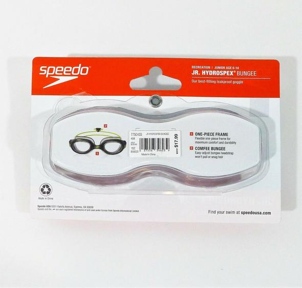 Speedo Unisex-Child Junior Hydrospex Bungee Swim Goggles Ages 6-14 - NEW