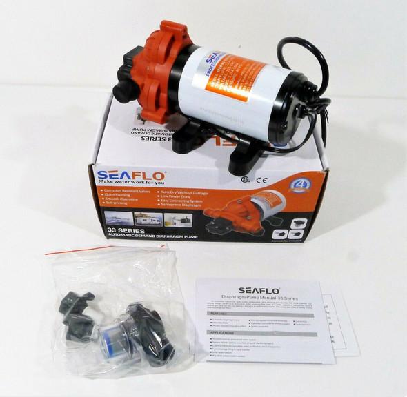 Seaflo 33 Series Automatic Demand Diaphragm Pump - OPEN DAMAGED BOX