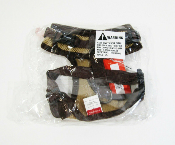 Puppia Ritefit Brown Soft Harness Size Medium **NEW IN PACKAGE**