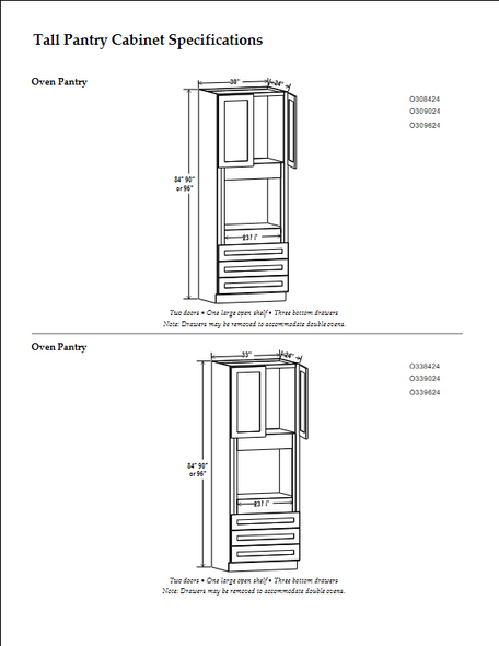 Pantry Kitchen Cabinets with Soft Close (Special Order)