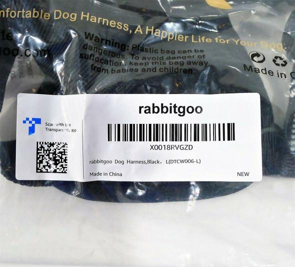 Rabbitgoo Dog Harness Size Large - NEW SEALED