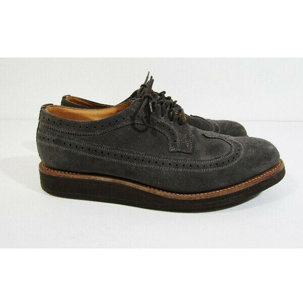 Mark Mcnairy Men's Gray Suede Wing Tip Brogue Shoes Size 9