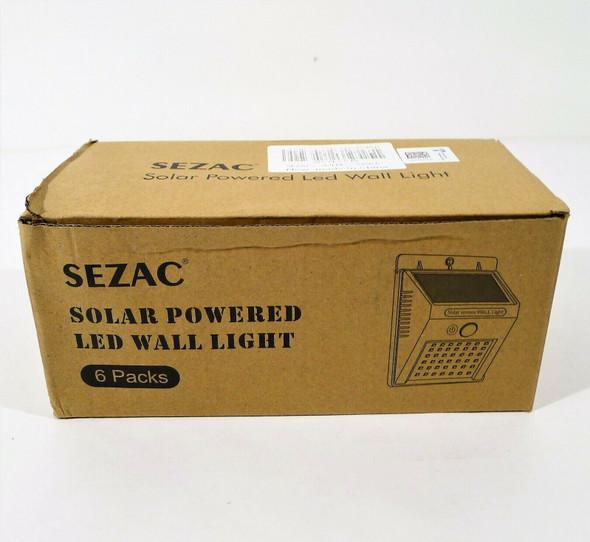6 Pack Sezac Solar Powered Led Wall Lights - OPEN BOX