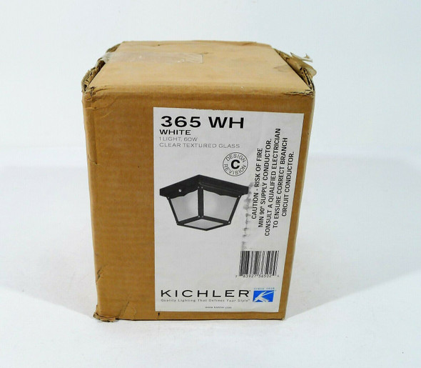 Kichler White Outdoor Flush Mount Light White 60W 365WH - OPEN BOX