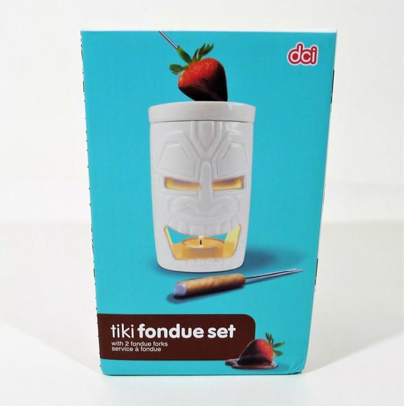 DCI Tiki Ceramic Fondue Set - NEW